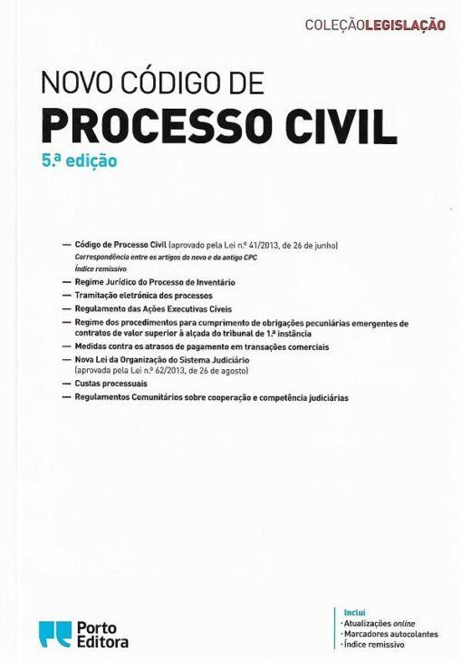 capa do livro novo código de processo civil