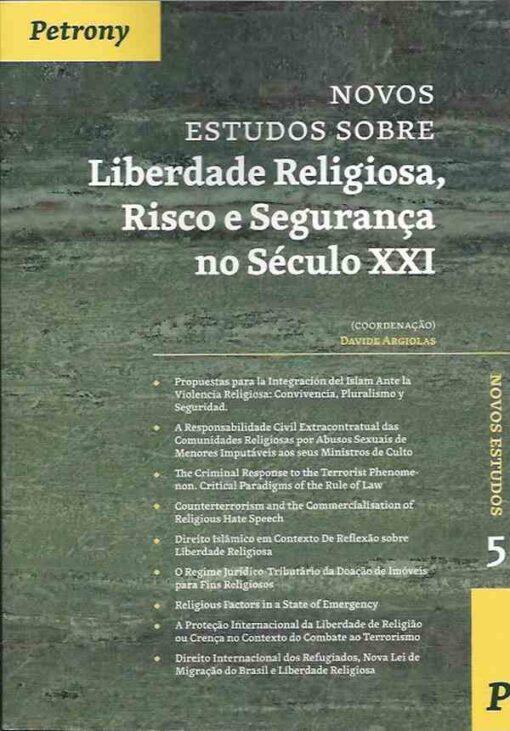 capa Novos Estudos Sobre Liberdade Religiosa, Risco de Segurança no Século XXI