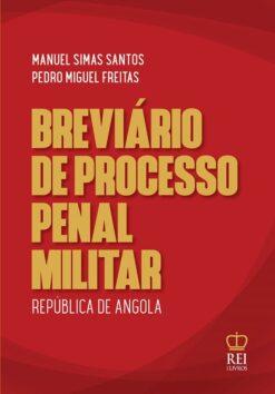 Capa do livro Breviário de Processo Penal Militar da República de Angola
