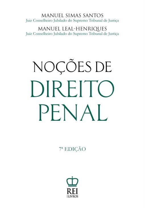 Capa do livro Noções de Direito Penal