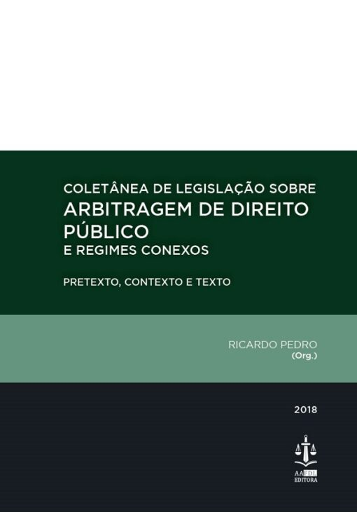 capa do livro Coletânea de Legislação sobre Arbitragem de Direito Público e Regimes Conexos