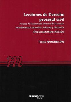 capa do livro Lecciones de Derecho procesal civil