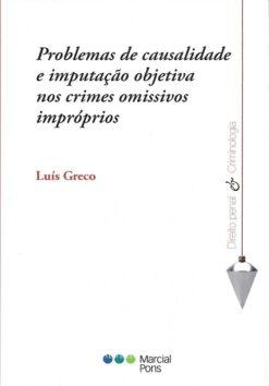 Capa do livro Problemas de Causalidade e imputação Objetiva nos crime impróprios