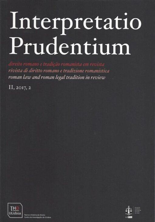 Capa do Livro interpretatio Prudentium