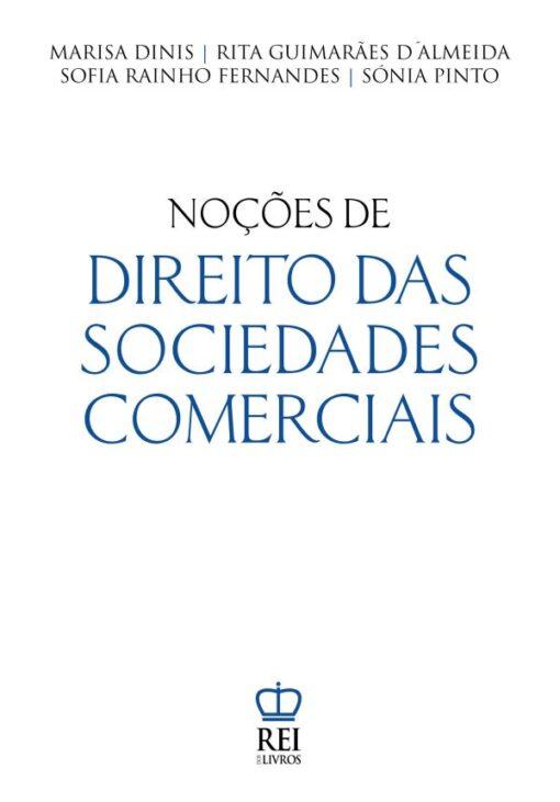 Capa do livro Noções de Direito das Sociedades Comerciais
