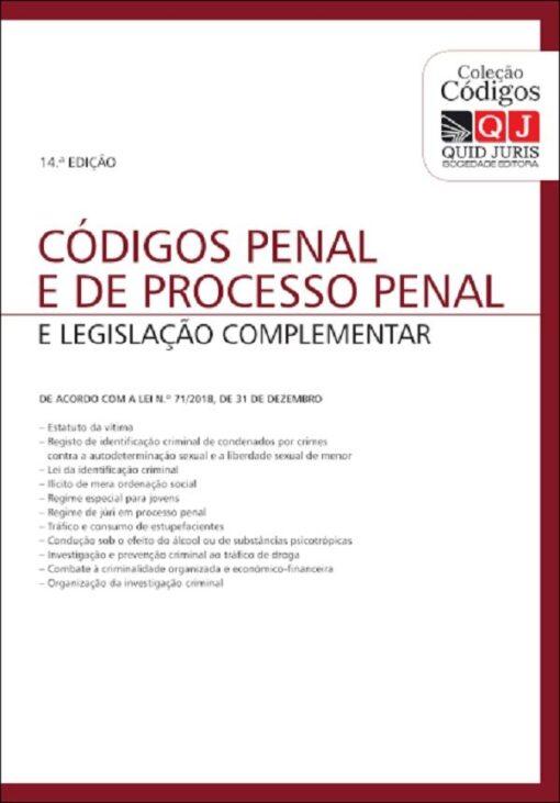 capa do livro codigos penal e de processo penal