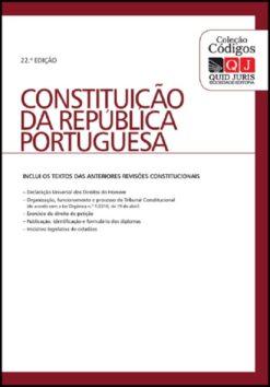 Capa Constituição da república poertuguesa 22ªEdição