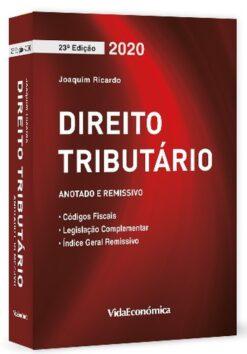 Capa do livro Direito Tributario 2020