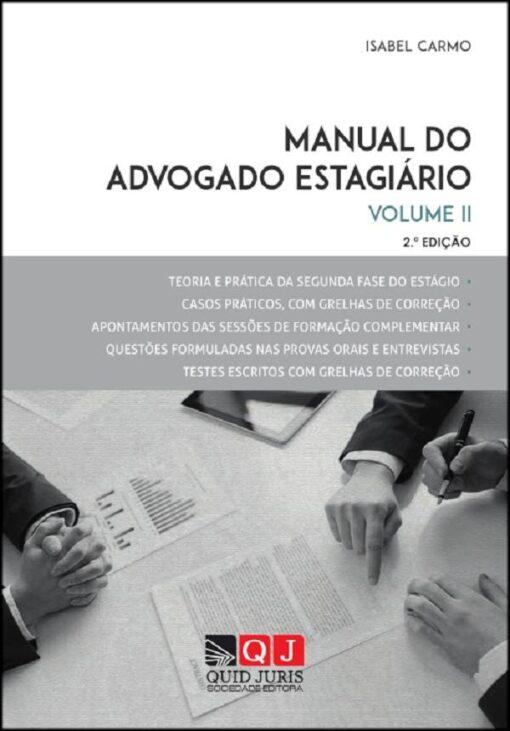 capa do livro Manual do Advogado Estágiario vol II