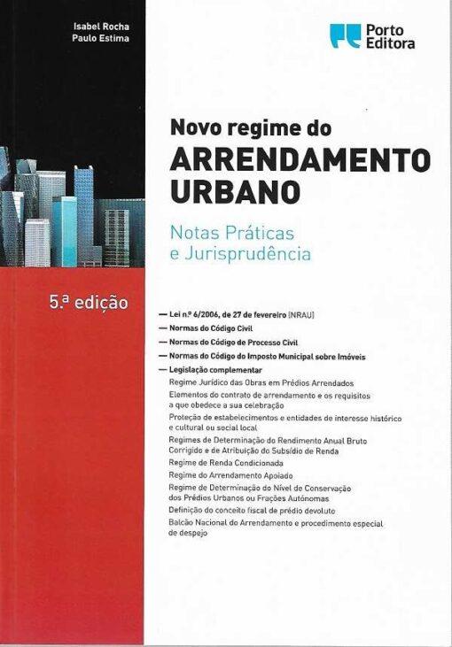 capa do livro Novo Regime do Arrendamento Urbano