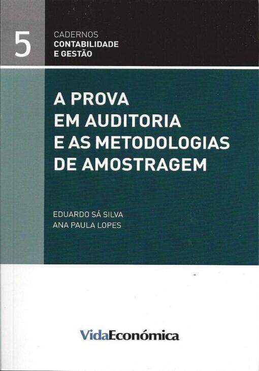capa do livro a prova em auditoria e as metodologias de amostragem