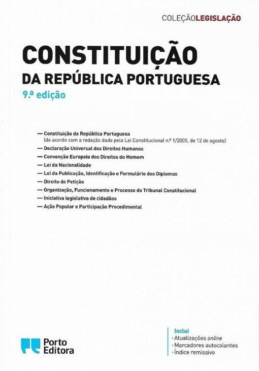 capa do livro constituição da república portuguesa 9ªEd