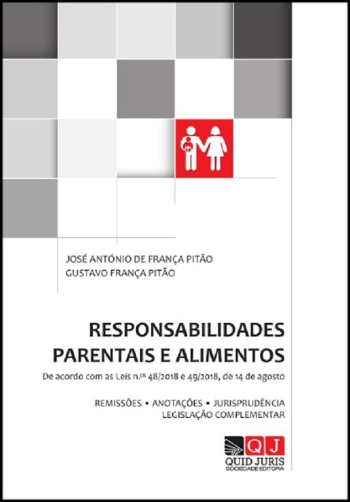 capa do livro responsabilidades parentais e alimentos