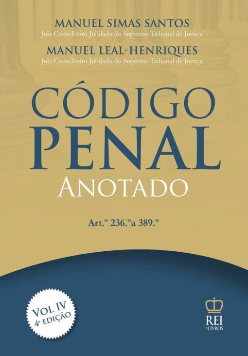 Capa do Livro Código Penal Anotado Vol IV