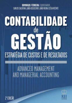Capa do livro Contabilidade de Gestão Advanced Management and Managerial Accounting