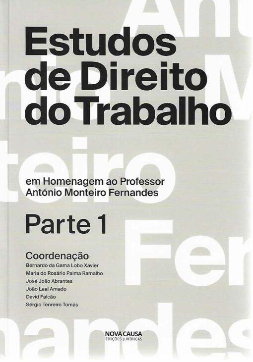 capa do livro Estudos de Direito do Trabalho 1