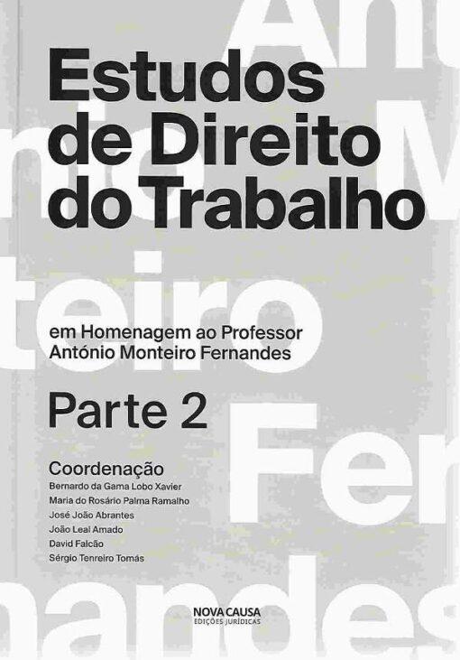 capa do livro Estudos de Direito do Trabalho 2