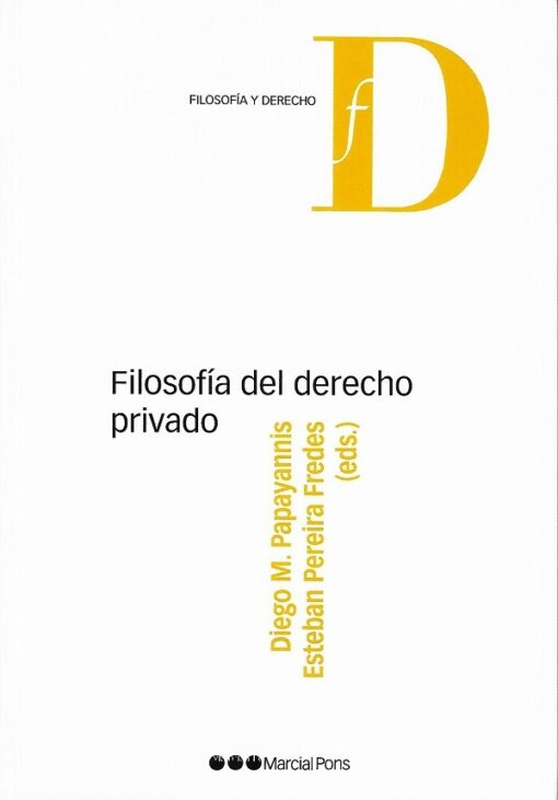 capa do livro filosófia del derecho privado