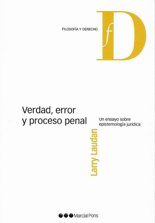 capa do livro verdad,error y proceso penal
