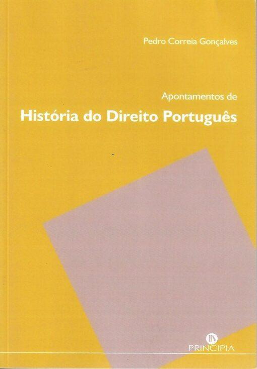 capa do Livro Apontamentos de História do Direito Português