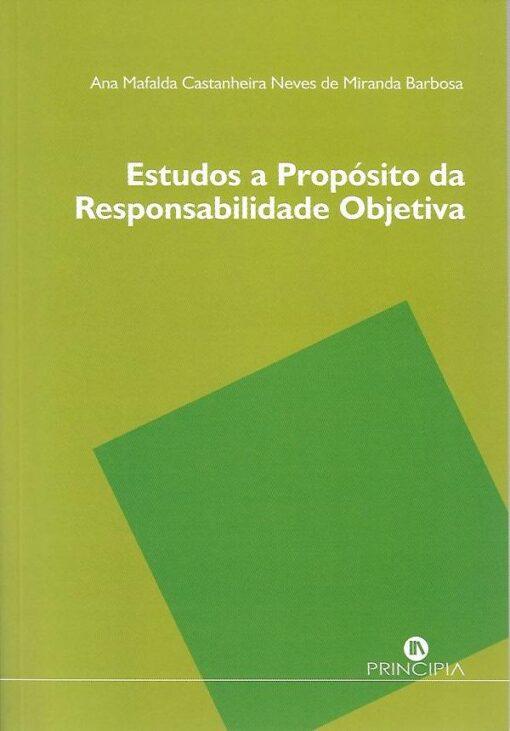 Capa do livro Estudos a Propósito da Responsabilidade Objetiva
