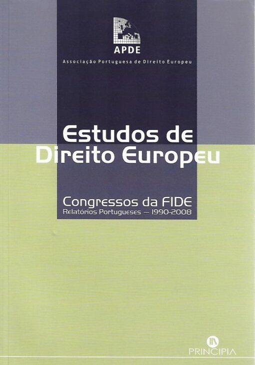 capa do livro Estudos de Direito Europeu