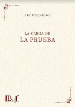 capa do livro La carga de la Prueba