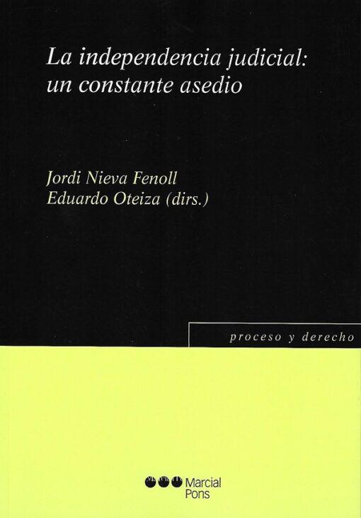 capa do livro La independencia judicial un constante asedio