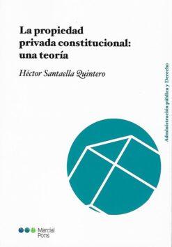 capa do livro La propiedad privada constitucional una teoría