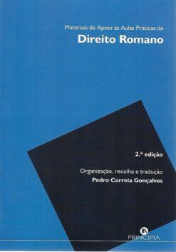 capa do livro Materiais de Apoio às Aulas Práticas de Direito Romano