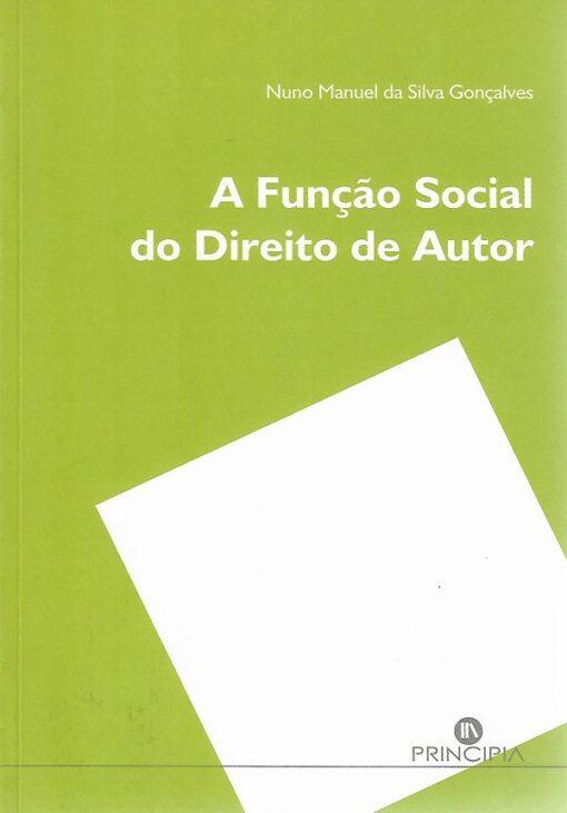 capa do livro a função social do direito de autor