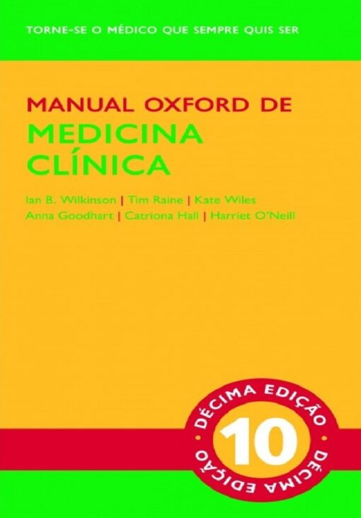 Capa do livro do Manual Oxford de Medicina Clinica