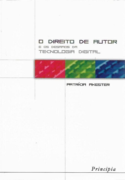 capa do livro o direito de autor e os desafios da tecnologia digital