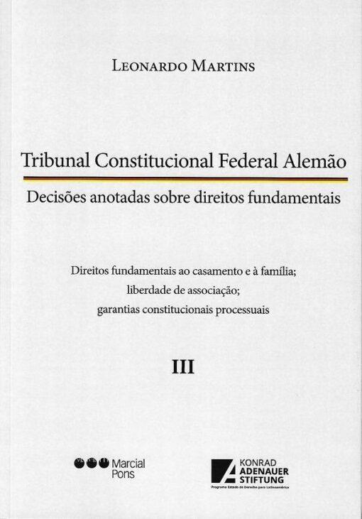 capa do livro tribunal constitucional federal alemão