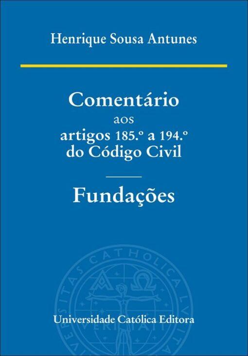 capa do livro Comentário aos Artigos 185º a 194º do Código Civil