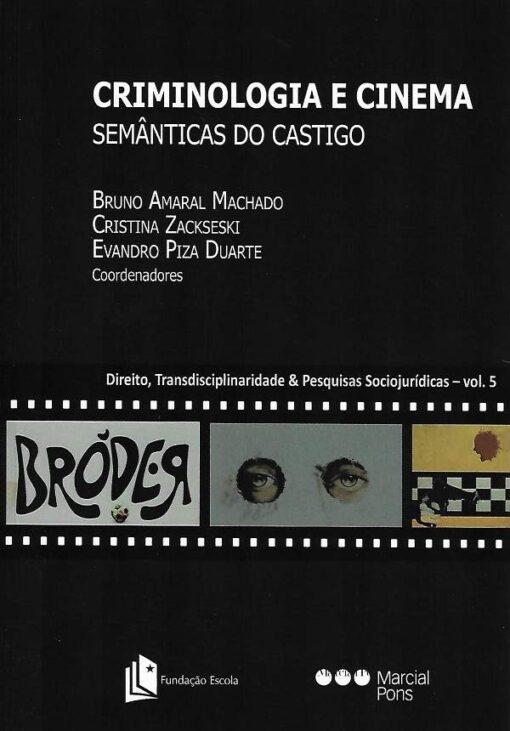capa do livro Criminologia e cinema Semânticas do Castigo