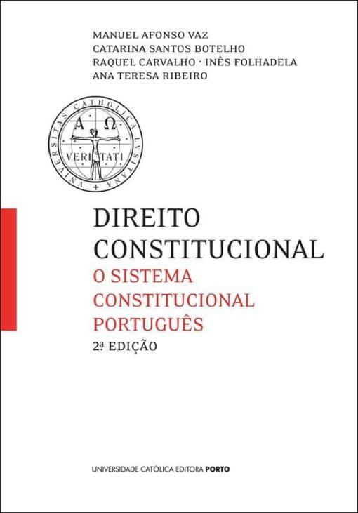 capa do livro Direito Constitucional- O sistema Constitucional Português