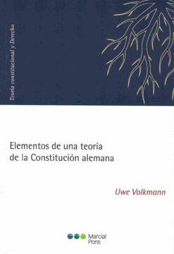 capa do livro Elementos de una teoría de la constitución alemana