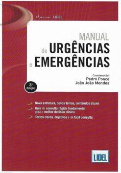 capa do livro manual de urgências e emergências