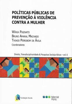 capa do livro políticas públicas de prevenção à violência contra a mulher