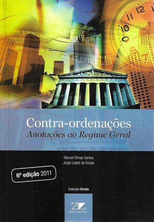 Capa do livro Contra-Ordenações Anotações ao Regime Geral