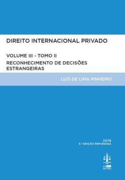 capa do livro Direito Internacional Privado Volume III Tomo II