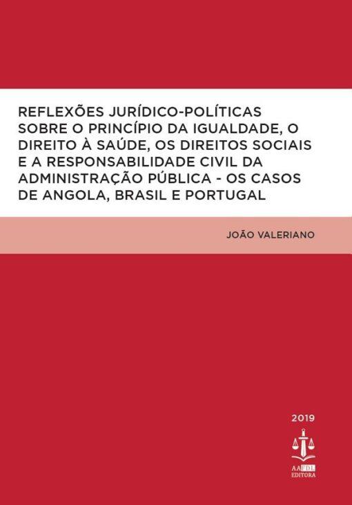 capa do livro Reflexões Jurídico-Políticas sobre o Príncipio da Igualdade, o Direito à Saúde, os Direitos Sociais