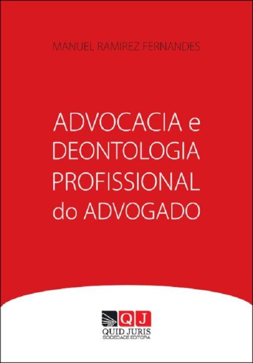 capa do livro Advocacia e Deontologia Profissional do Advogado