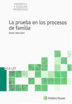 Capa do Livro La Prueba en los Procesos de Familia 9788490206478