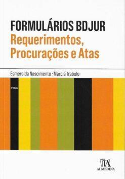 capa do livro Formulários Bdjur Requerimentos, Procurações e Atas