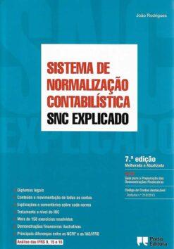 capa do livro SNC - Sistema de Normalização Contabilística Explicado