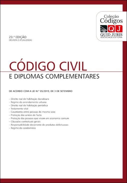 Capa do livro Código Civil Quid Juris