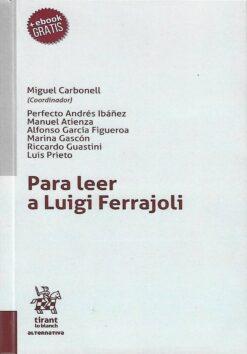 capa do livro para leer a luigi ferrajoli