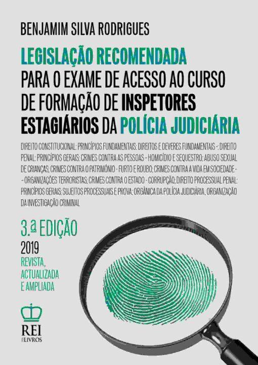 Capa do Livro Legislação Recomendada para o Exame de Acesso ao Curso de Formação de Inspectores da Polícia Judiciária